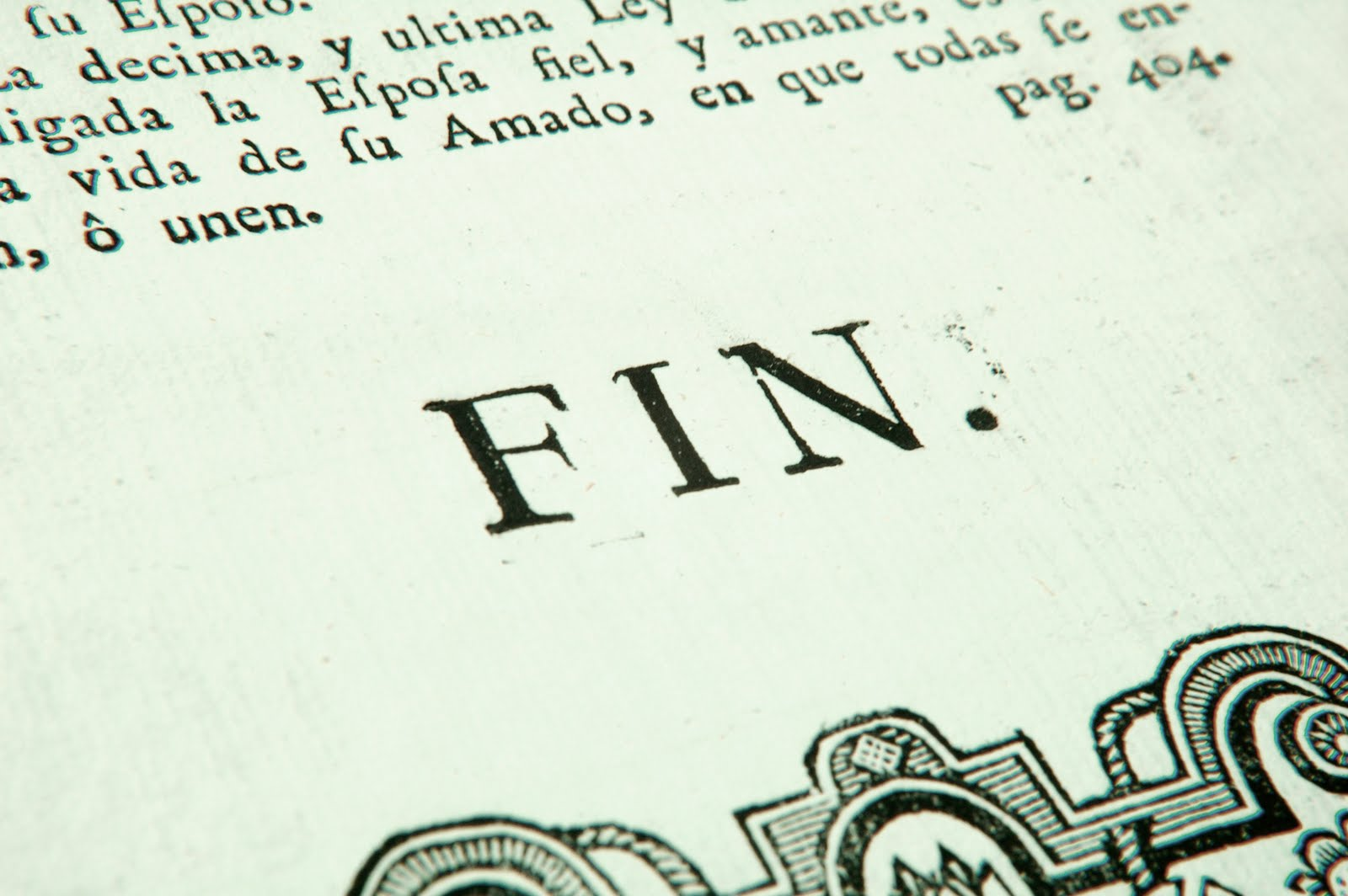 La fin du livre